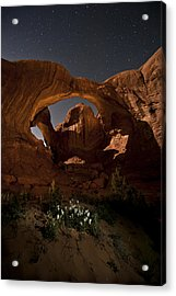 Double Arch In The Moonlight Acrylic Print