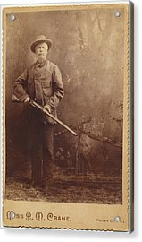 Acrylic Print featuring the photograph Double Barrel Shotgun Hunter by Paul Ashby Antique Image
