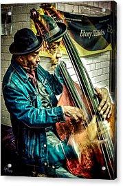 Double Bass. Man Acrylic Print