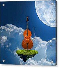 Double Bass Acrylic Print by Marvin Blaine