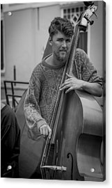 Double Bass Player Acrylic Print by David Morefield