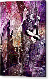 Double Bass Silhouette  Acrylic Print