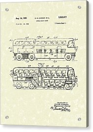 Double-deck Coach 1951 Patent Art Acrylic Print by Prior Art Design