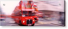 Double Decker Bus, London, England Acrylic Print by Panoramic Images