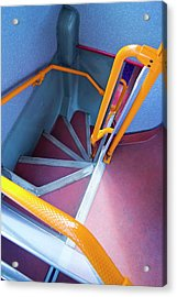Double-decker Bus Stairs. Acrylic Print by Mark Williamson