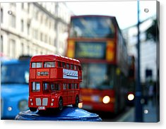 Double Deckers At Piccadilly Circus  Acrylic Print