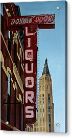 Double Door Sign Wicker Park Bucktown Chicago Acrylic Print