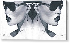 Double Face Acrylic Print by Bobby Dar