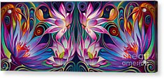 Double Floral Fantasy 2 Acrylic Print