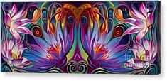 Double Floral Fantasy Acrylic Print
