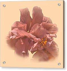 Double Hibiscus Portrait Acrylic Print
