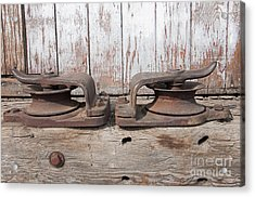 Double Pully Acrylic Print by Minnie Lippiatt