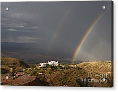 Double Rainbow And Jerome State Park Acrylic Print