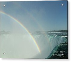 Acrylic Print featuring the photograph Double Rainbow by Brenda Brown