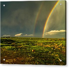 Double Rainbow Acrylic Print by Craig Brown