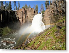Double Rainbow Falls Acrylic Print by Adam Jewell