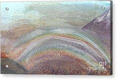 Double Rainbow In Mountains Acrylic Print