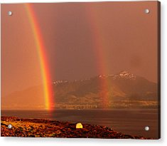 Acrylic Print featuring the photograph Double Rainbow by Karen Horn