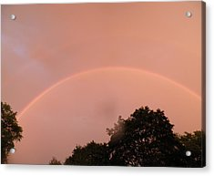 Double Rainbow Acrylic Print by Kate Gallagher