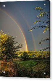 Double Rainbow Over County Clare Acrylic Print