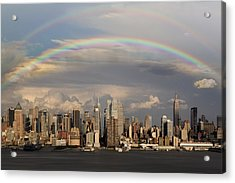 Double Rainbow Over Nyc Acrylic Print