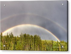 Acrylic Print featuring the photograph Double Rainbow by Wanda Krack