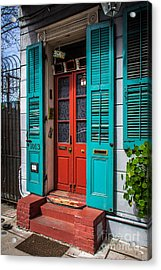 Double Red Door Acrylic Print by Perry Webster