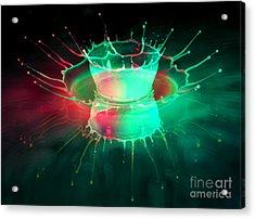Double Splash Acrylic Print by Jaroslaw Blaminsky