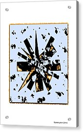 Double Star Collage Acrylic Print