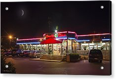 Double T Diner At Night Acrylic Print