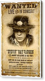 S. R. V. Wanted Poster 2 Acrylic Print by Gary Bodnar