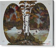 Doubling The Autumn Splendor Acrylic Print by Bob Williams
