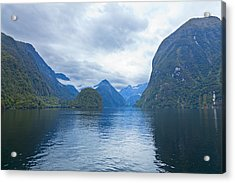 Doubtful Sound Reflections Acrylic Print by Alexey Stiop