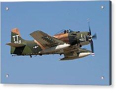 Douglas Ad-4 Skyraider Acrylic Print by Adam Romanowicz