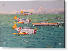 Acrylic Print featuring the painting Douglas Devastators by Murray McLeod