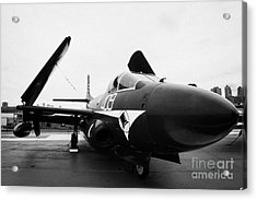 Douglas F3d 2 F3d2 Skyknight On Display On The Flight Deck At The Intrepid Sea Air Space Museum Acrylic Print by Joe Fox