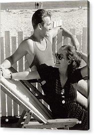 Douglas Fairbanks Jr. With Joan Crawford Acrylic Print