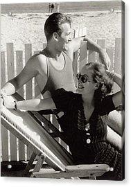 Douglas Fairbanks Jr. With Joan Crawford Acrylic Print by Edward Steichen
