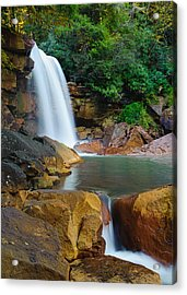 Acrylic Print featuring the photograph Douglas Falls by Tyson and Kathy Smith