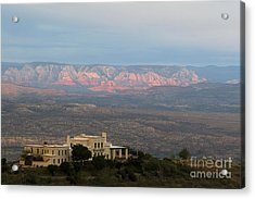 Douglas Mansion And Red Rocks Of Sedona Acrylic Print