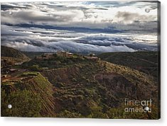 Douglas Mansion With A Sea Of Clouds Acrylic Print