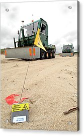 Dounreay Beach Radiation Monitoring Acrylic Print by Public Health England