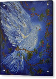 Dove Spirit Of Peace Acrylic Print by Louise Burkhardt