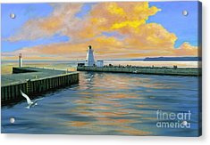 Dover Evening Acrylic Print by Michael Swanson