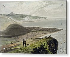Dover, From Shakespeares Cliff, From A Acrylic Print by William Daniell
