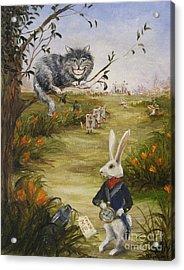 Down A Rabbit Hole Acrylic Print by Stella Violano