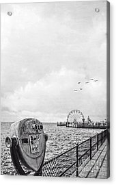 Down At The Pier Acrylic Print by Edward Fielding