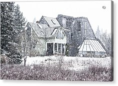 Down East Maine Contemporary Farmhouse Acrylic Print by Marty Saccone