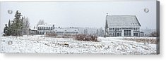 Down East Maine Farmhouse And Barn Acrylic Print by Marty Saccone