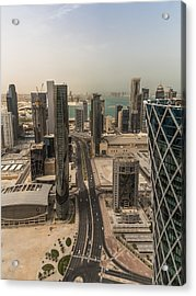 Down On Doha Acrylic Print by Charlie Tash